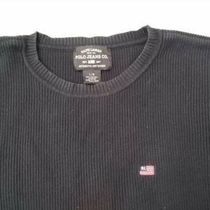 Vtg Polo Jeans Company Ralph Lauren Mens L Ribbed